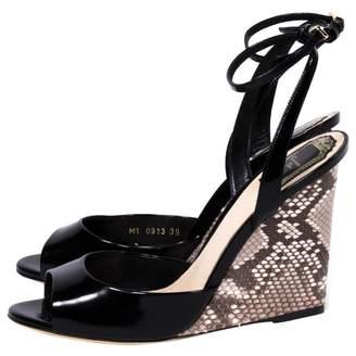 Christian Dior Beige Python Sandals