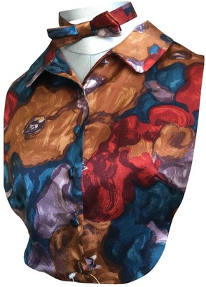 J&M Davidson J & M Davidson Multicolour Silk Top for Women