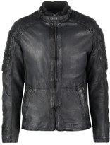 Mustang Logan Leather Jacket Indigo