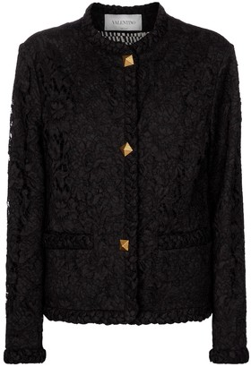 Valentino floral-lace jacket