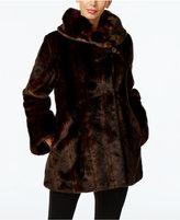 Jones New York Faux-Fur Asymmetrical Coat
