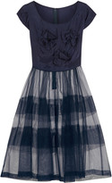 Comme des Garcons Bow-embellished taffeta and tulle dress