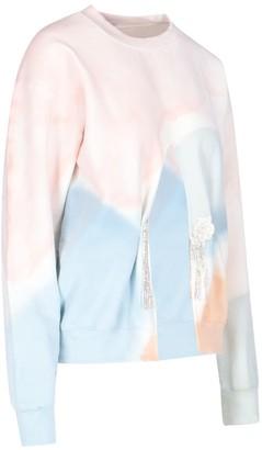 Collina Strada Front Slit Crew-neck Sweater