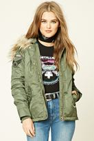 Forever 21 Army Patch Jacket