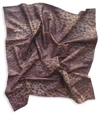 Gaios Leopard-Print Faux Leather Bandana