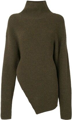 Proenza Schouler Asymmetrical Wool Turtleneck Jumper