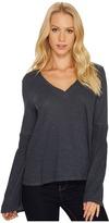 Lanston Smocked Long Sleeve Top Women's T Shirt