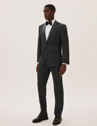 Marks and Spencer Big & Tall Black Regular Fit Dinner Jacket