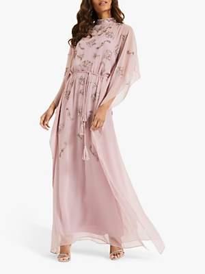 Phase Eight Sairah Beaded Kimono Dress, Deep Pink