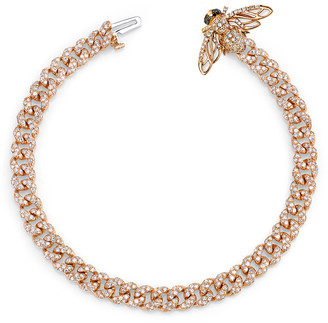 Shay Jewelry Pave Bee Mini Link Bracelet