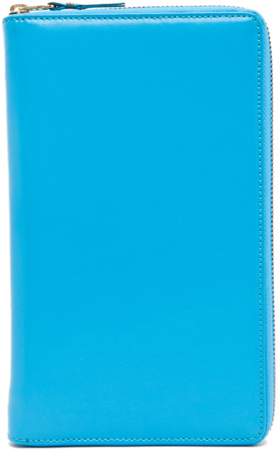 Comme des Garcons Travel Wallet in Blue