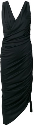 Lanvin Ruched Asymmetric Dress