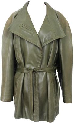 Christian Dior Khaki Leather Leather jackets