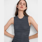 Theory Textured Tank in Cotton-Viscose