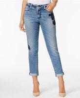 NYDJ Jessica Tummy-Control Embroidered Boyfriend Jeans