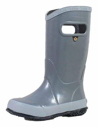 Bogs Rainboot Waterproof Rubber Rain Shoe Gray 7 US Unisex Toddler
