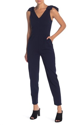 Love...Ady V-Neck Bow Shoulder Jumpsuit