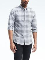 Banana Republic Grant-Fit Cotton-Stretch Check Oxford Shirt