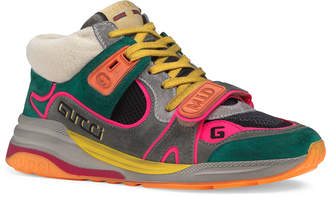 Gucci Ultrapace G Line Mid-Top Sneakers