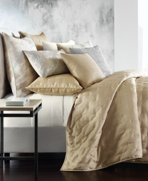 Hotel Collection Metallic Stone Full/Queen Coverlet, Created for Macy's Bedding