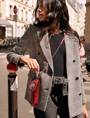 Maje Double-breasted checked jacket