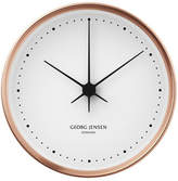 Georg Jensen Koppel 22 Cm Wall Clock, Copper With White Dial
