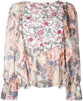 See by Chloe multi floral blouse