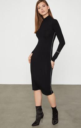 BCBGMAXAZRIA Turtleneck Jersey Dress