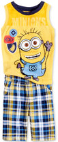 Nannette 2-Pc. Minions Graphic-Print Tank Top and Shorts Set, Toddler and Little Boys (2T-7)