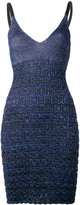 Kenzo metallic textured knit dress - women - Polyester/Viscose/Metallized Polyester - M
