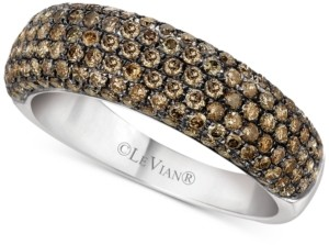 LeVian Le Vian Chocolatier Diamond Band (1-1/5 ct. t.w.) in 14k White Gold