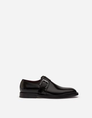 Dolce & Gabbana Brushed Calfskin Monk Strap Shoes