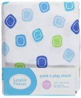 """Luvable Friends Squared Off"""" Pack n Play Sheet"""