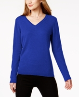 Charter Club Petite Cashmere V-Neck Sweater, Created for Macy's