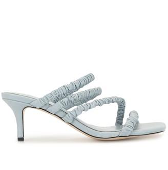 Mara & Mine Ruched Strap Sandals