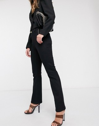 Vero Moda wide leg jeans in black