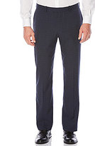 Perry Ellis Non-Iron Regular Fit Flat-Front Plaid Stretch Pants