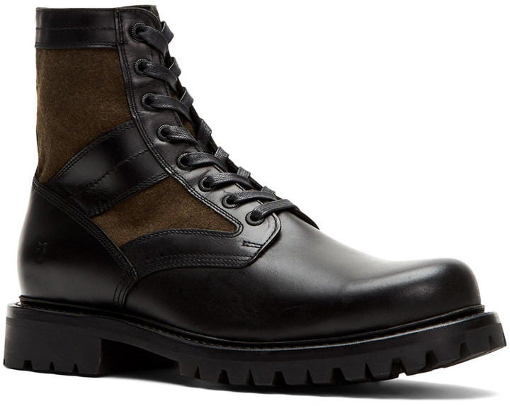 Frye Trench Combat Leather Boot