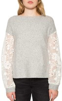 Willow & Clay Women's Lace Sleeve Sweater