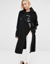 Cheap Monday Wool Coat with D-Ring Details