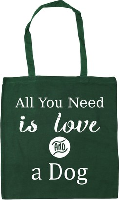 HippoWarehouse All You Need is Love and a Dog Tote Shopping Gym Beach Bag 42cm x38cm 10 litres