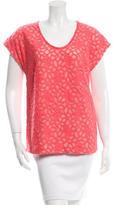 Diane von Furstenberg Short Sleeve Lace Top