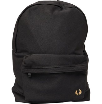 Fred Perry Mens Woven Pique Backpack Black