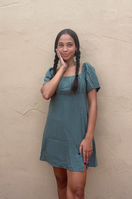 MinkPink Ruched Bust Mini Dress