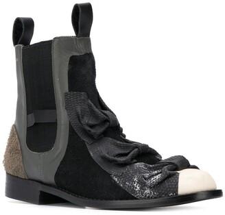 Comme Des Garçons Pre-Owned 1990's bow details Chelsea boots