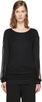 Ann Demeulemeester Black Slit Sleeve T-Shirt