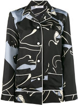 Valentino panther print pyjama top - women - Silk - S