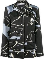 Valentino panther print pyjama top