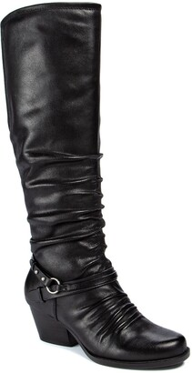 Bare Traps Rinny Ruched Tall Boot