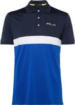 Rlx Ralph Lauren - Slim-fit Colour-block Stretch-piqué Golf Polo Shirt